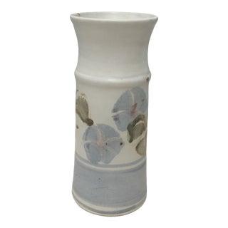 Ceramic Vase With Floral Motif For Sale