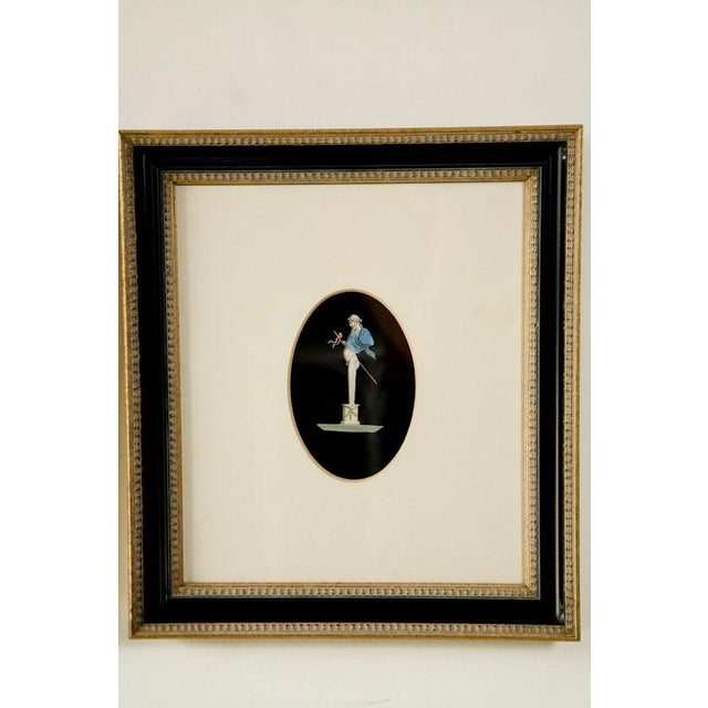 Pair of hand colored Herm prints, newer matting and frames. Original prints are from the 19thC or earlier, and hand...