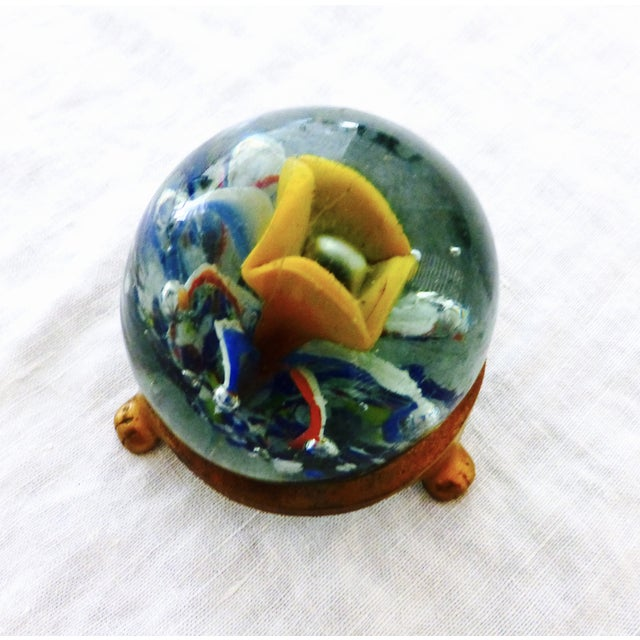 Handblown Glass Paperweight with Stand - Image 3 of 6
