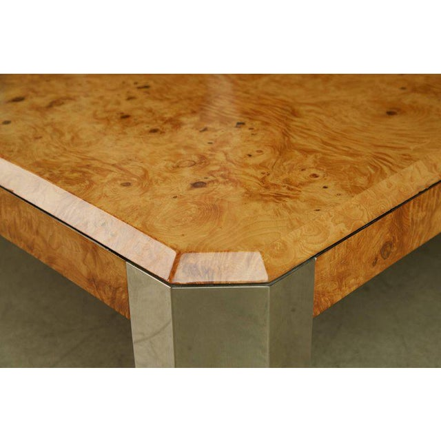 Leon Rosen for the Pace Collection Burled Wood Large Coffee Table For Sale In Los Angeles - Image 6 of 8