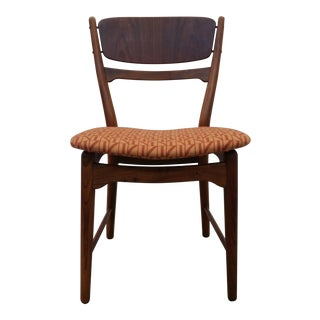 Set of Four Dining Chairs in Walnut and Teak, by Arne Wahl Iversen For Sale