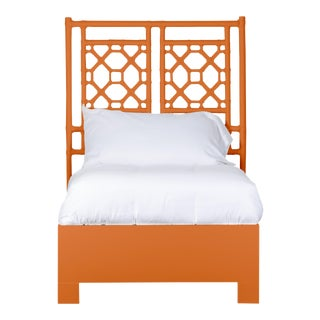 Lattice Back Bed Twin - Orange For Sale