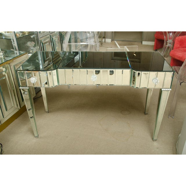 Spectacular Mirrored 3-Drawer Vanity/Desk For Sale - Image 9 of 9