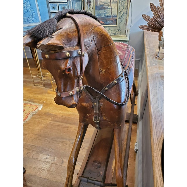 Wood 19th Century English Rocking Horse For Sale - Image 7 of 9