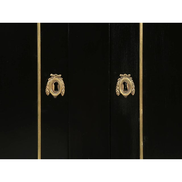 Black Antique French Louis XVI Style Buffet in an Ebonized Finish For Sale - Image 8 of 10