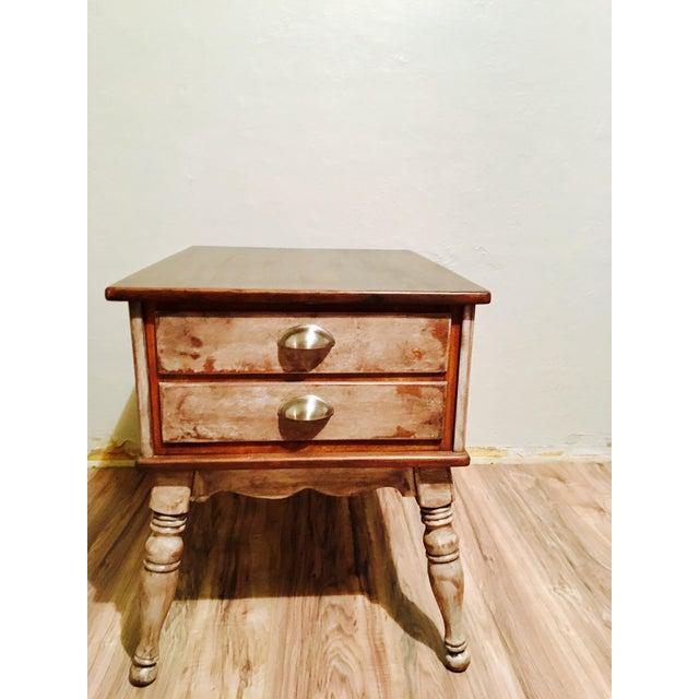 Farmhouse Rustic Side Table - Image 7 of 11