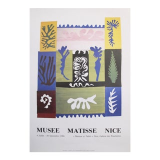 Original Matisse Exhibition Cut Out Poster, 1986 For Sale