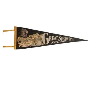 Vintage Great Smoky Mts. Nat'l. Park Felt Flag Pennant