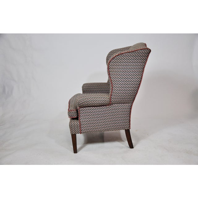 1960s Vintage French Kids Wing Chair Newly Upholstered For Sale - Image 5 of 13