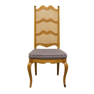 Thomasville Furniture Chateau Collection Cane Back Dining Side Chair For Sale