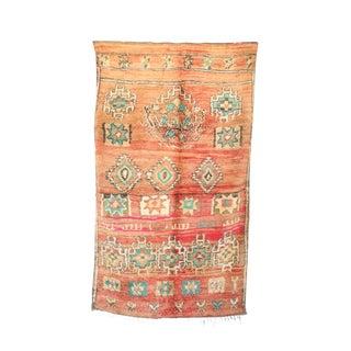"""Boujad Vintage Moroccan Rug, 5'10"""" X 9'11"""" Feet"""