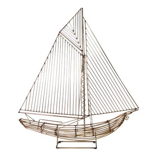 Curtis Jere Sailboat Sculpture