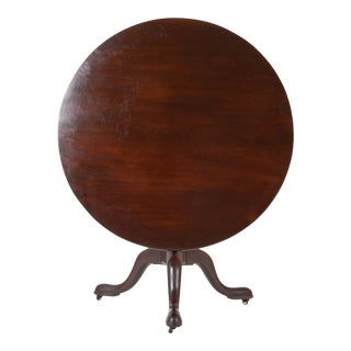 English George II Mahogany Bird Cage Round Tilt Top Table For Sale
