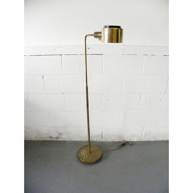 1970s Vintage Brass Finish Library Pharmacy Floor Reading Lamp For Sale In New York - Image 6 of 6