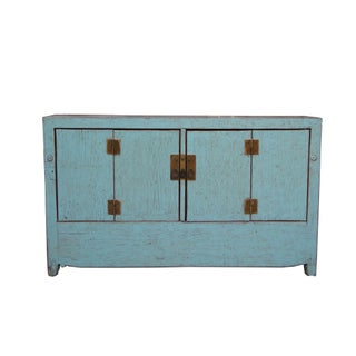 1950s Chinese Dongbei Baby Blue Wedding Cabinet Preview