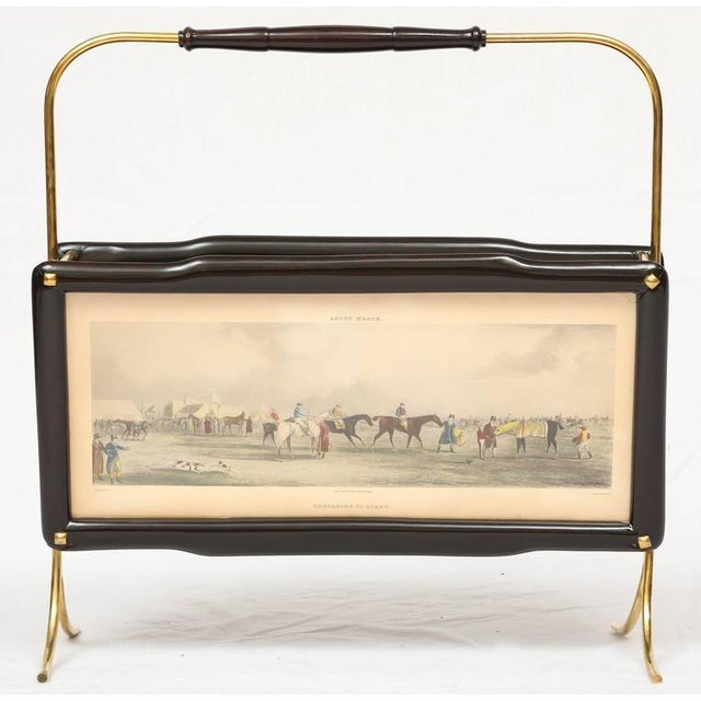 Italian Italian Magazine Rack with two Henry Alken Engravings For Sale - Image 3 of 10