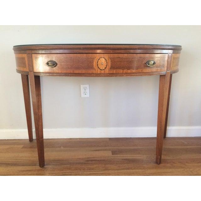 Vintage Hepplewhite Demi-Lune Table - Image 2 of 9