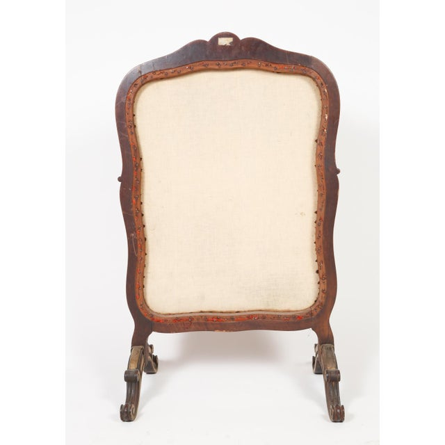 Giltwood Antique French Needlepoint and Parcel Giltwood Fire Screen For Sale - Image 7 of 12