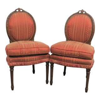 Louis XVI Style Slipper Chairs - A Pair