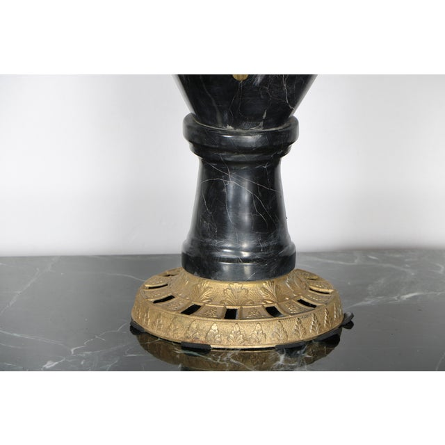 Marble and Brass Candelabras - A Pair - Image 5 of 5