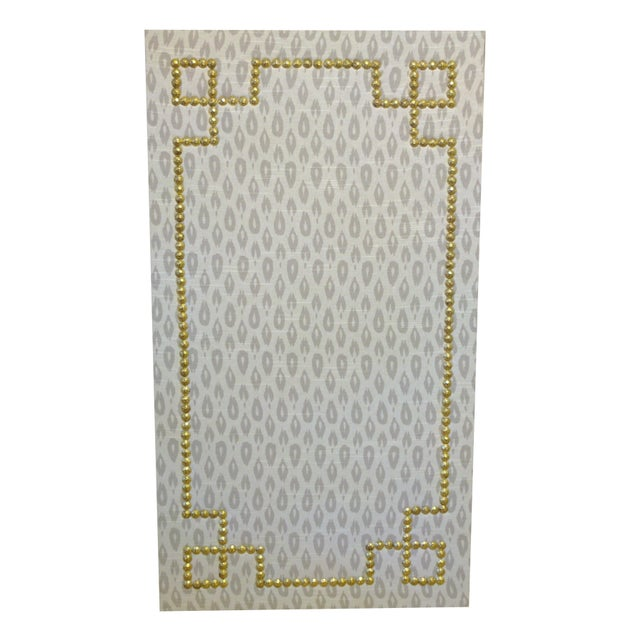 Ikat Uphosltered Cork Board with Nailhead Trim - Image 1 of 2