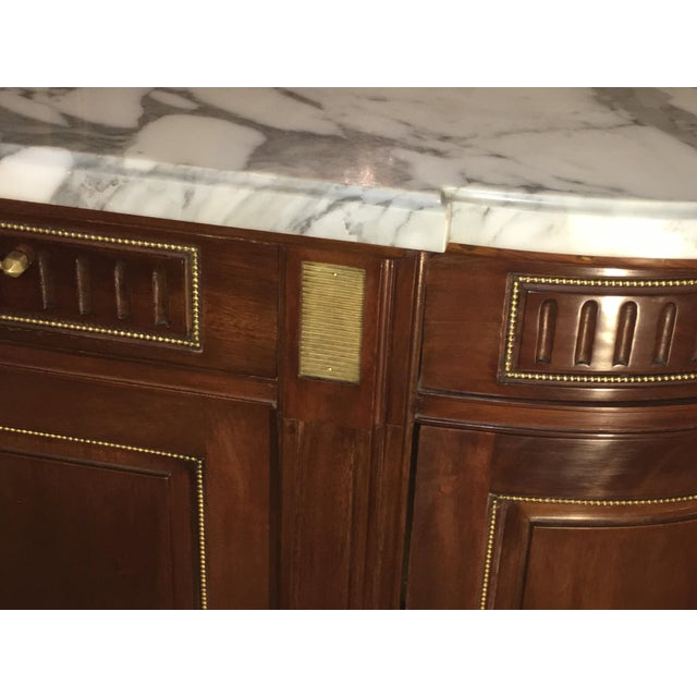 Maison Jansen Louis XV/ Directoire Style Marble Top Mahogany Sideboard - Image 8 of 9