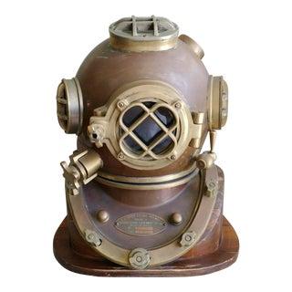 Vintage U.S. Navy Diving Helmet Replica, Morse Co. For Sale