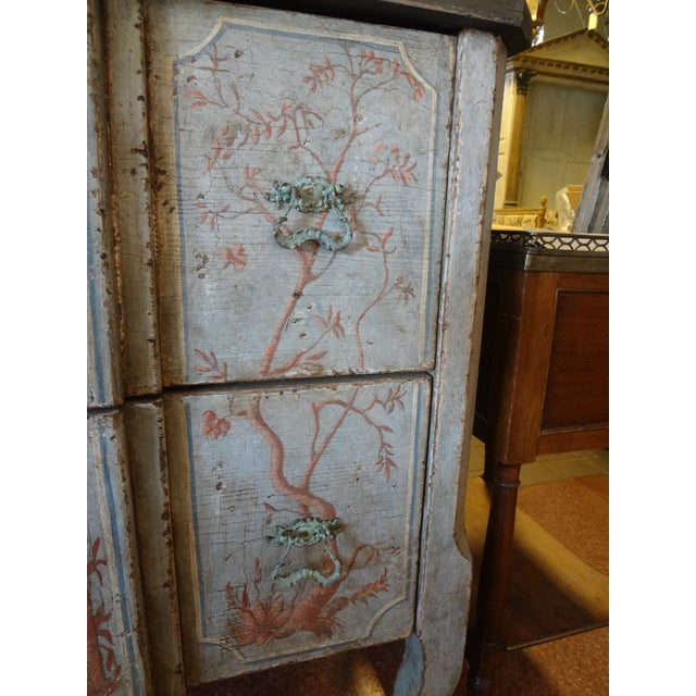 Italian 19th Century Italian Painted Commode For Sale - Image 3 of 11