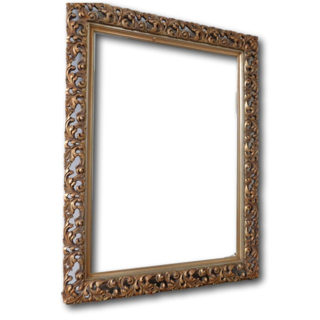 French Gold Filigree Carved Mirror - Image 3 of 4