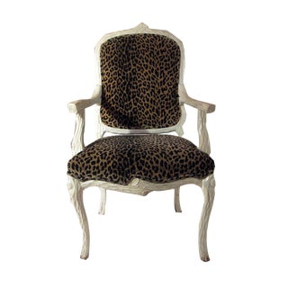 Mid Century Serge Roche Leopard Accent Armchair For Sale