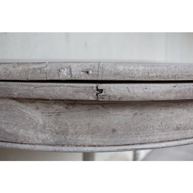 Late 19th Century Antique French Demi-Lune Console For Sale - Image 9 of 13