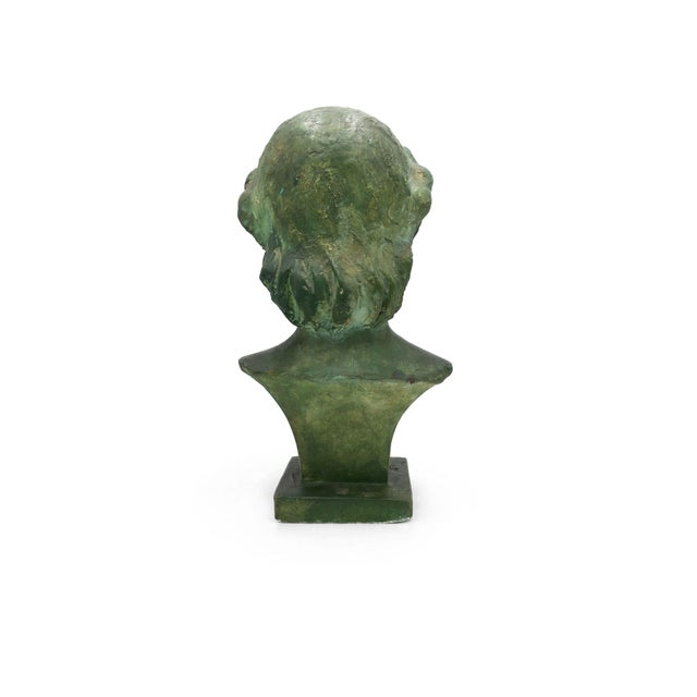 French Art Deco Patina Lady Bust For Sale - Image 4 of 10
