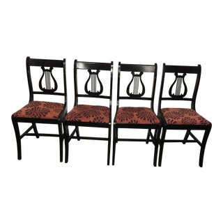 1930's Lyre Back Chairs - Set of 4
