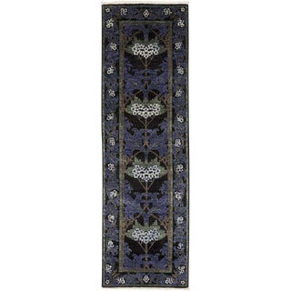 """Arts & Crafts, Hand Knotted Runner Rug - 2' 7"""" x 8' 5"""" For Sale"""