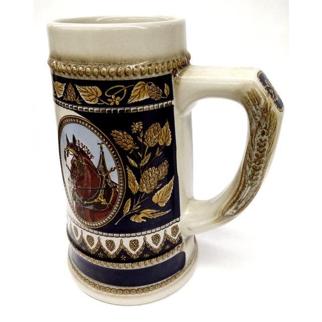 Traditional Vintage Anheuser Busch Stoneware Beer Stein For Sale - Image 3 of 8