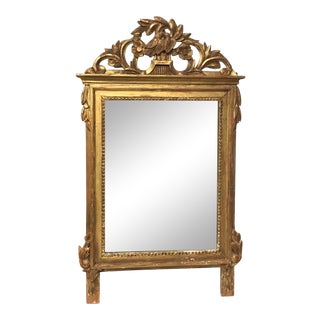 Early 19th Century French Carved Giltwood Mirror For Sale
