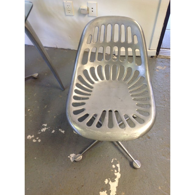 Contemporary Azcast Aluminum Dining Set For Sale - Image 3 of 6