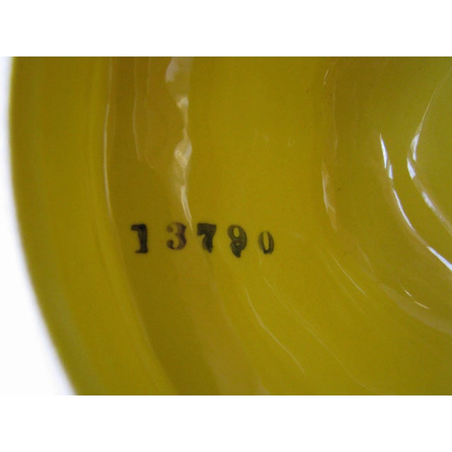 Yellow Vintage Lemon Shaped Ceramic Cookie Jar or Canister For Sale - Image 8 of 12