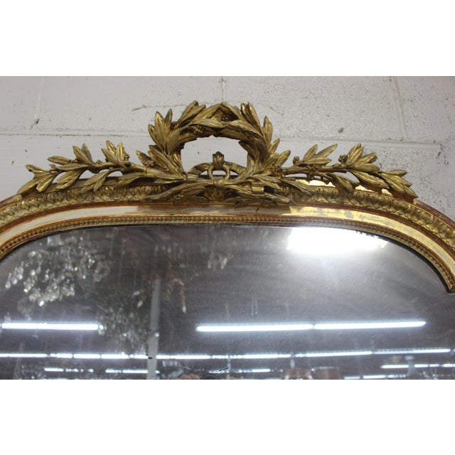 French 18th Century Louis XVI Giltwood Mirror For Sale - Image 3 of 9