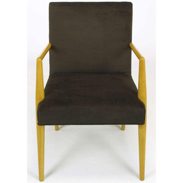 Pair T.H. Robsjohn-Gibbings For Widdicomb Open Arm Chairs. - Image 3 of 10
