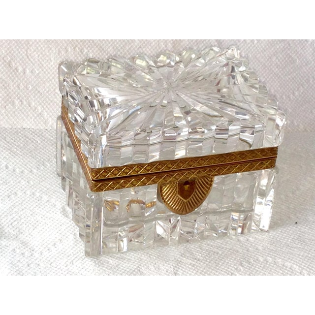 French Cut Crystal Banded Jewelry Box - Image 2 of 4