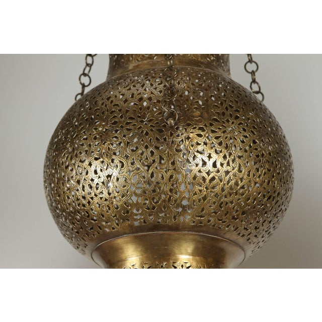Metal Moroccan Moorish Brass Chandelier For Sale - Image 7 of 8