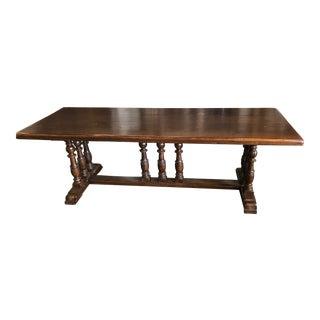 19th C. French Henri II Trestle Table
