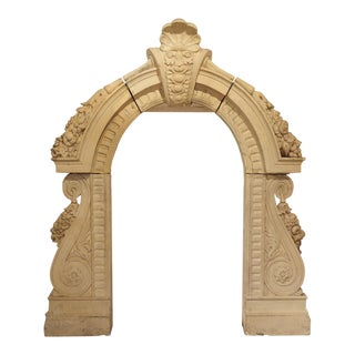 Antique Terra Cotta Lucarne Window Dormer From a Chateau in France, 19th Century For Sale