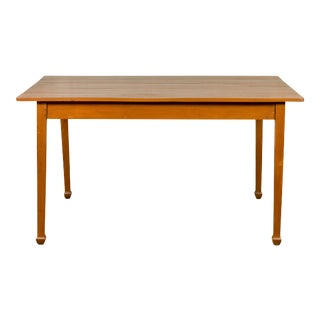Vintage Chinese Dining Table with Simple Classical Design and Spade Feet For Sale