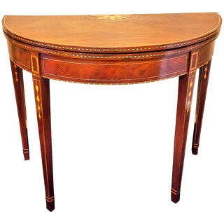 Federal Mahogany Inlaid Hepplewhite Card Table, 1795-1800, Baltimore For Sale