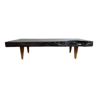 Live Edge Mid-Century Leg Style Coffee Table - Tree Root