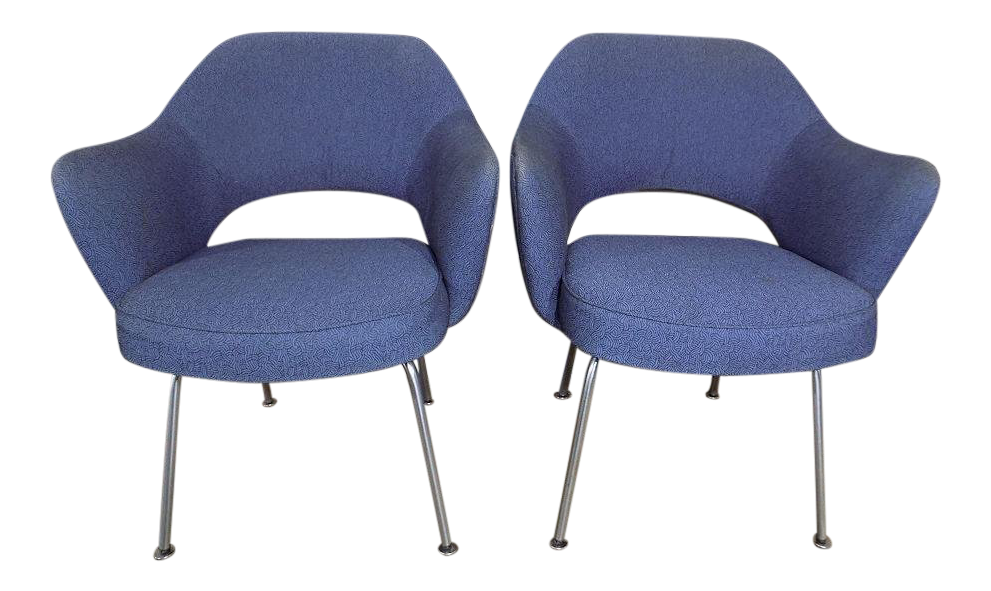 Eero Saarinen For Knoll Executive Arm Chairs   A Pair