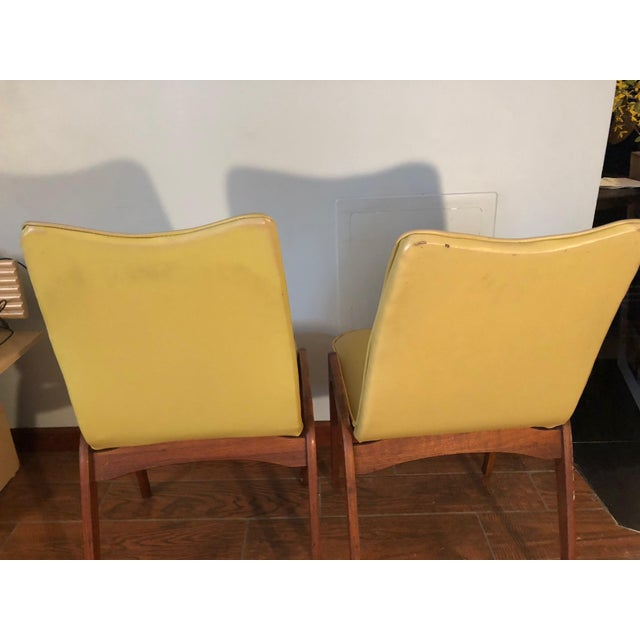 Plastic Johannes Andersen Style Mid-Century Danish Teak Chairs - a Pair For Sale - Image 7 of 9