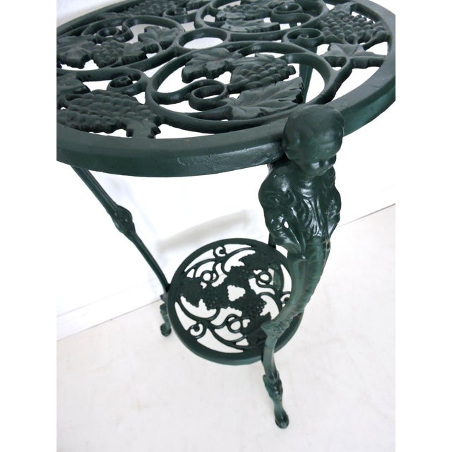 Mid 20th Century Two Tier Bottle Green Patio/Side Table (Aluminium) For Sale - Image 5 of 5